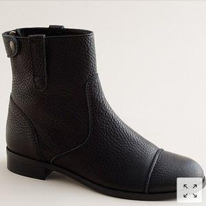 J Crew Weatherby Short Boot Black 9